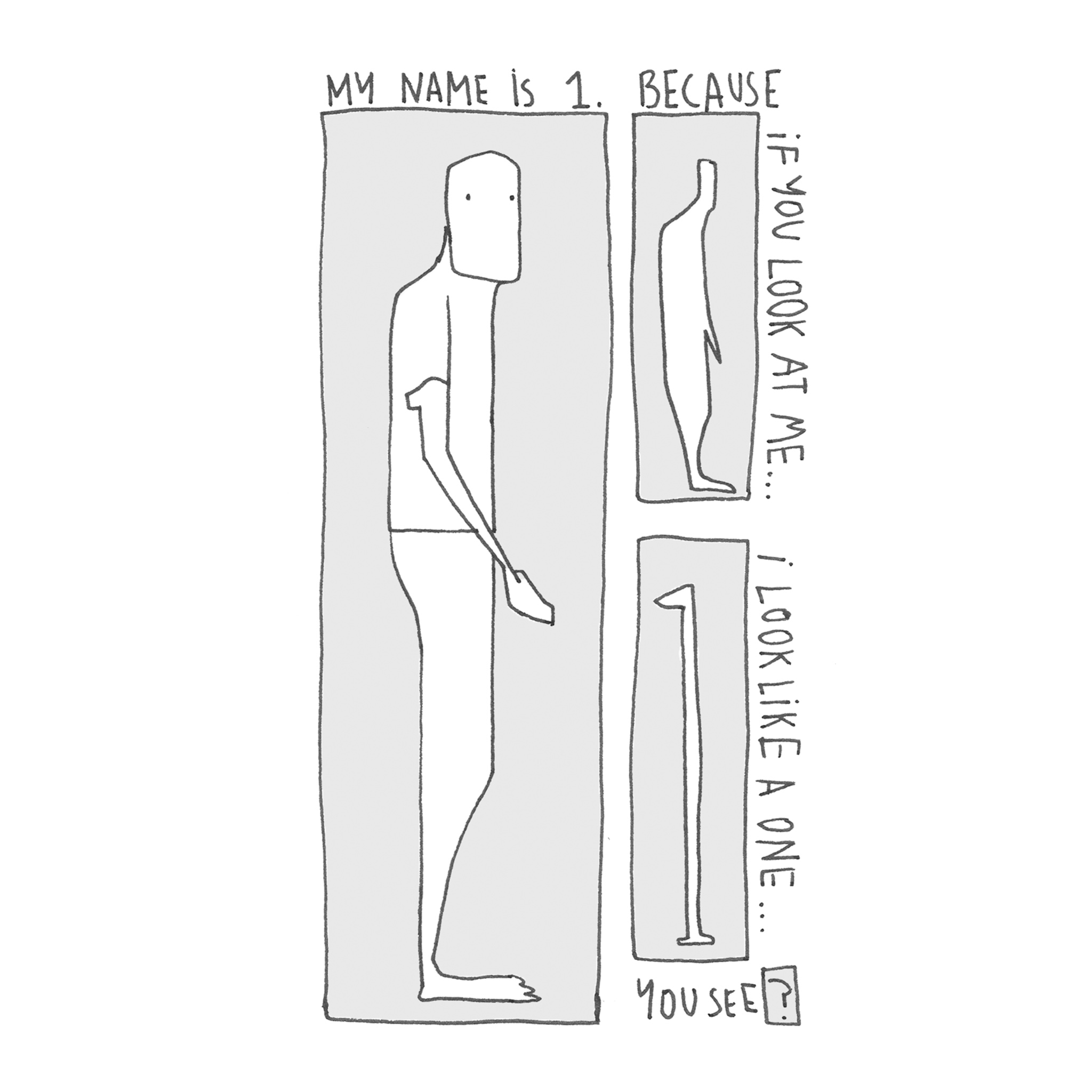Silly comic about a 1 who wants to be a 2. comic by Rowena Sheehan