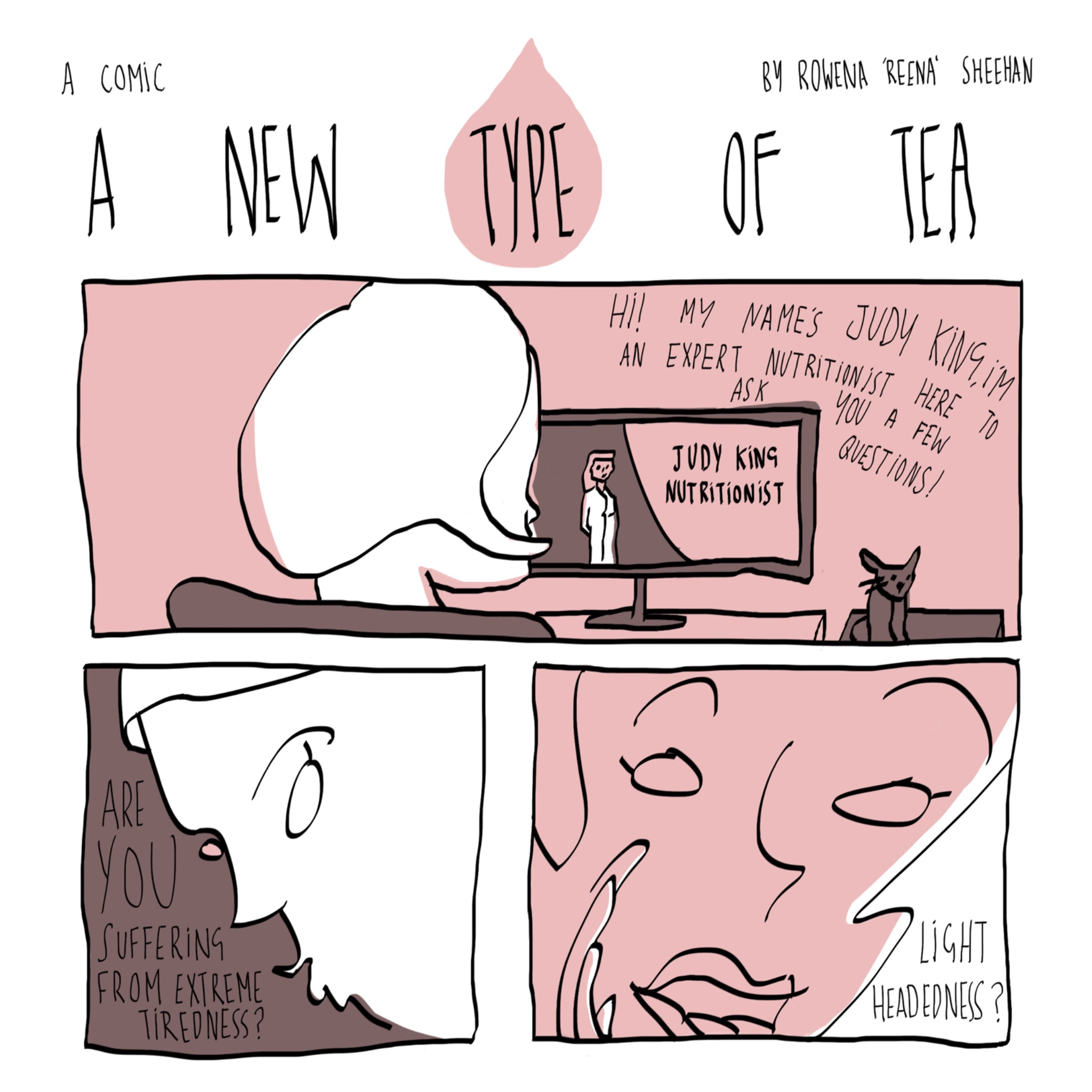 Nonsensicle and absurd comics about a brand new type of tea. comic by Rowena Sheehan