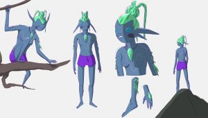 Forest Creature Character Design by Rowena Sheehan